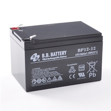 12V 12Ah Akku, AGM Blei-Akku, B.B. Battery BP12-12, VdS, 151x98x94 (lxbxh), Pol T2 Faston 250 (6,3 mm)