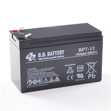 12V 7Ah Akku, AGM Bleiakku, B.B. Battery BP7-12, VdS, 151x65x93 (lxbxh), Pol T2 Faston 250 (6,3 mm)
