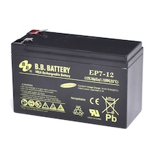 12V 7Ah Akku, AGM Blei-Akku, B.B. Battery EP7-12, 151x65x93 (lxbxh), Pol T2 Faston 250 (6,3 mm)
