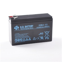 12V 6Ah Akku, AGM Blei-Akku, B.B. Battery HR6-12, 151x51x94 (lxbxh), Pol T2 Faston 250 (6,3 mm)