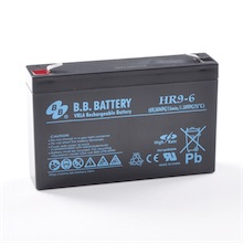 6V 9Ah Akku, AGM Bleiakku, B.B. Battery HR9-6, 151x34x94 (lxbxh), Pol T2 Faston 250 (6,3 mm)