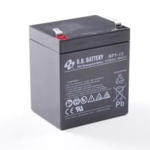 12V 5Ah Akku, AGM Bleiakku, B.B. Battery BP5-12, 90x70x102 (lxbxh), Pol T2 Faston 250 (6,3 mm)