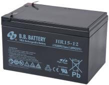 12V 15Ah Akku, AGM Bleiakku, B.B. Battery HR15-12, 151x98x94 (lxbxh), Pol T2 Faston 250 (6,3 mm)