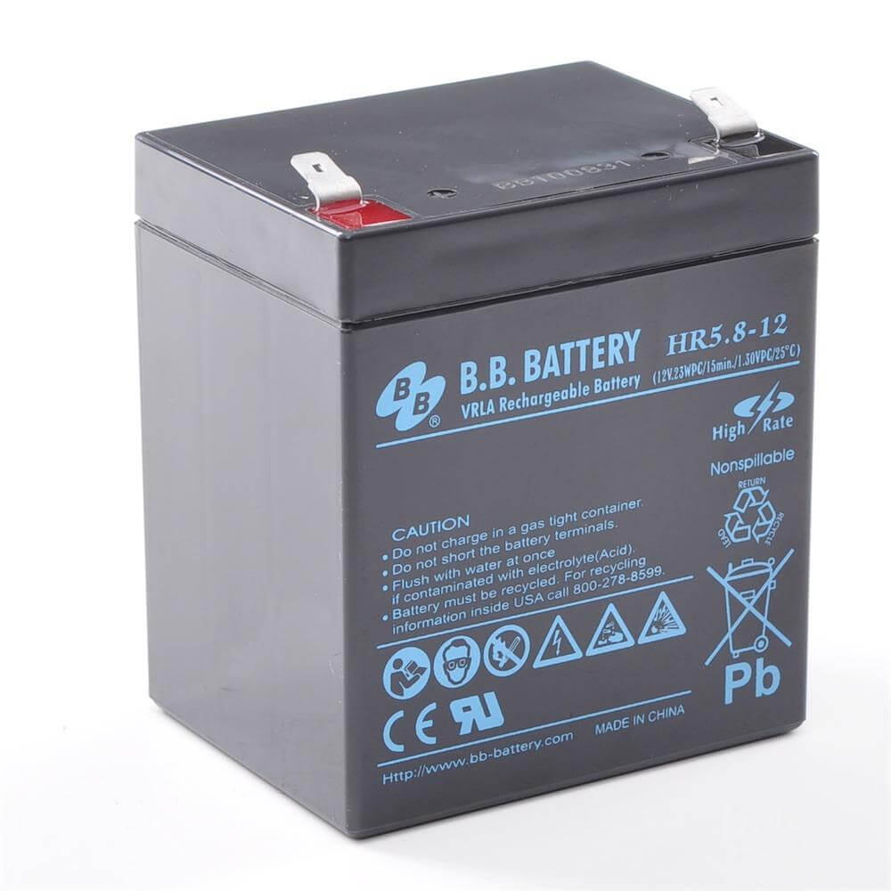12v 5 8ah akku agm bleiakku b b battery hr5 8 12. Black Bedroom Furniture Sets. Home Design Ideas