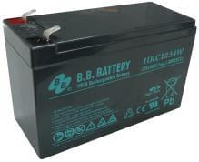 12V 9Ah Akku, AGM Bleiakku, B.B. Battery HRC1234W, 151x65x94 (lxbxh), Pol T2 Faston 250 (6,3 mm)