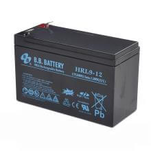 12V 9Ah Akku, AGM Bleiakku, B.B. Battery HRL9-12, 151x65x94 (lxbxh), Pol T2 Faston 250 (6,3 mm)